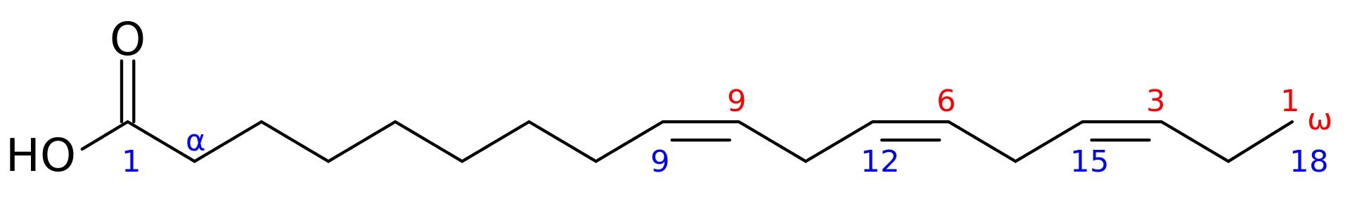 ALA  omega-3 formula chimica