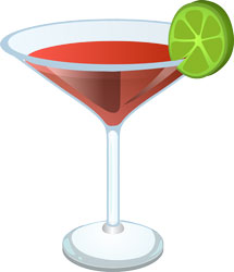 pahar cocktail cu lime