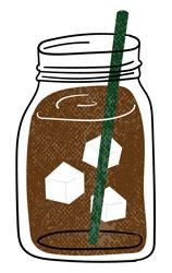 cafeaua preparată la rece în borcan cu gheață