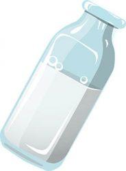 Sticlă cu lapte din nucă de cocos
