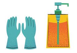 mănușile pentru menaj în cosmetică