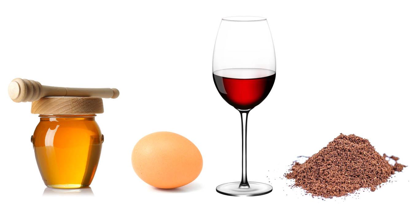 Mască vin roșu ingrediente