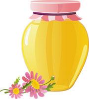 borcan de miere cu flori