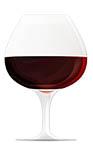 pahar vin roșu