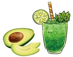 avocado suc verde pahar