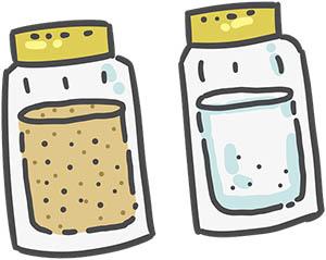 cosmetice - sare, zahăr