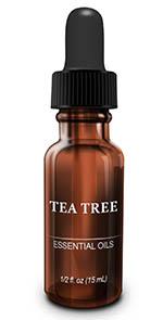 sticlă ulei esențial de tea tree