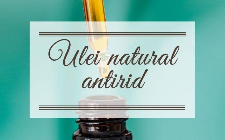 ulei natural antirid sticlă cu pipetă